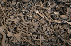 Immagine di sfondo scura di rifiuti metallici Fotografia Stock Libera da Diritti