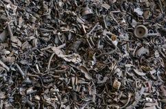 Immagine di sfondo scura di rifiuti metallici Immagini Stock Libere da Diritti