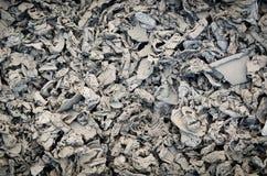 Immagine di sfondo scura di rifiuti metallici Fotografia Stock