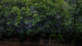 Immagine di sfuocatura di pioggia Immagine Stock Libera da Diritti