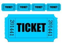 Immagine di singolo biglietto e striscia dei biglietti Fotografie Stock Libere da Diritti