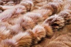 Immagine di struttura o del fondo di pelliccia Nella prospettiva Immagini Stock