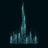 Immagine di tecnologia del Dubai Fotografia Stock