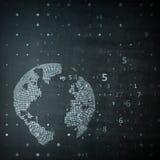 Immagine di tecnologia del globo Fotografie Stock Libere da Diritti