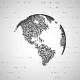 Immagine di tecnologia del globo Fotografie Stock
