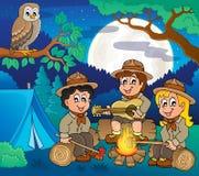Immagine 5 di tema degli esploratori dei bambini Immagini Stock