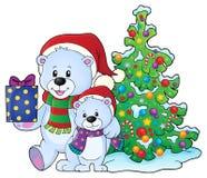 Immagine 6 di tema degli orsi di Natale Fotografia Stock