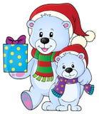 Immagine 5 di tema degli orsi di Natale Fotografia Stock