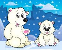 Immagine 2 di tema degli orsi polari illustrazione vettoriale