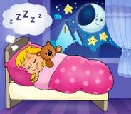 Immagine 4 di tema del bambino di sonno Immagine Stock