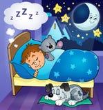 Immagine 6 di tema del bambino di sonno Immagine Stock