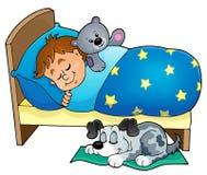 Immagine 5 di tema del bambino di sonno Fotografia Stock Libera da Diritti
