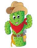 Immagine 3 di tema del cactus Immagine Stock