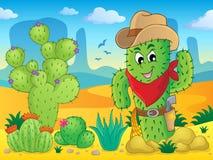 Immagine 4 di tema del cactus Fotografie Stock
