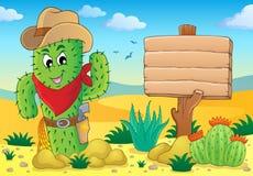 Immagine 5 di tema del cactus Immagini Stock Libere da Diritti