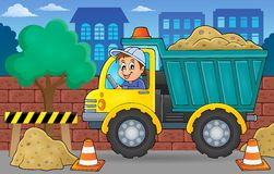 Immagine 2 di tema del camion della sabbia Fotografia Stock