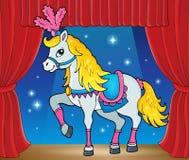 Immagine di tema del cavallo del circo Fotografie Stock