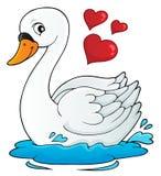 Immagine 1 di tema del cigno del biglietto di S. Valentino illustrazione vettoriale