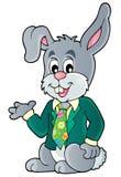 Immagine 1 di tema del coniglio di Pasqua Immagini Stock