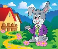 Immagine 2 di tema del coniglio di Pasqua Immagine Stock Libera da Diritti