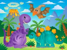 Immagine 3 di tema del dinosauro Fotografia Stock