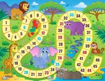 Immagine 1 di tema del gioco da tavolo Fotografia Stock