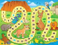 Immagine 3 di tema del gioco da tavolo Immagini Stock Libere da Diritti