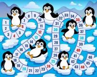 Immagine 4 di tema del gioco da tavolo Immagini Stock