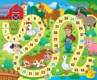 Immagine 6 di tema del gioco da tavolo Immagini Stock