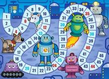 Immagine 7 di tema del gioco da tavolo Immagine Stock