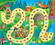 Immagine 8 di tema del gioco da tavolo Fotografie Stock Libere da Diritti
