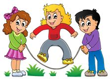 Immagine 1 di tema del gioco dei bambini Fotografia Stock Libera da Diritti