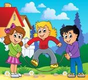 Immagine 2 di tema del gioco dei bambini Fotografia Stock