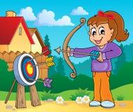 Immagine 7 di tema del gioco dei bambini Fotografia Stock