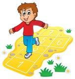 Immagine 8 di tema del gioco dei bambini Fotografia Stock