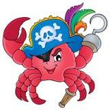 Immagine 1 di tema del granchio del pirata illustrazione di stock