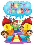 Immagine 6 di tema del partito dei bambini Immagine Stock