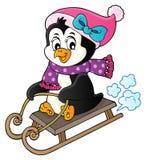 Immagine 4 di tema del pinguino di Sledging illustrazione di stock