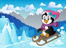 Immagine 5 di tema del pinguino di Sledging royalty illustrazione gratis