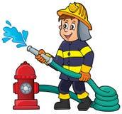 Immagine 1 di tema del pompiere Fotografia Stock