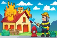 Immagine 2 di tema del pompiere Fotografie Stock