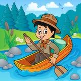 Immagine 2 di tema del ragazzo dell'esploratore dell'acqua Fotografie Stock Libere da Diritti