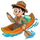 Immagine 1 di tema del ragazzo dell'esploratore dell'acqua Immagini Stock