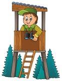 Immagine 1 di tema del silvicoltore illustrazione vettoriale