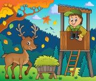 Immagine 4 di tema del silvicoltore illustrazione di stock