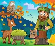 Immagine 7 di tema del silvicoltore royalty illustrazione gratis