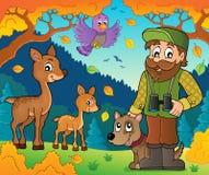 Immagine 8 di tema del silvicoltore illustrazione di stock