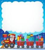 Immagine 6 di tema del treno di Natale Immagine Stock
