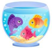Immagine 7 di tema dell'acquario Immagini Stock Libere da Diritti
