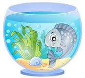Immagine 5 di tema dell'acquario Fotografia Stock